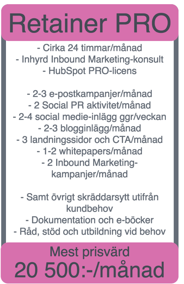 prislista marketinghouse pro