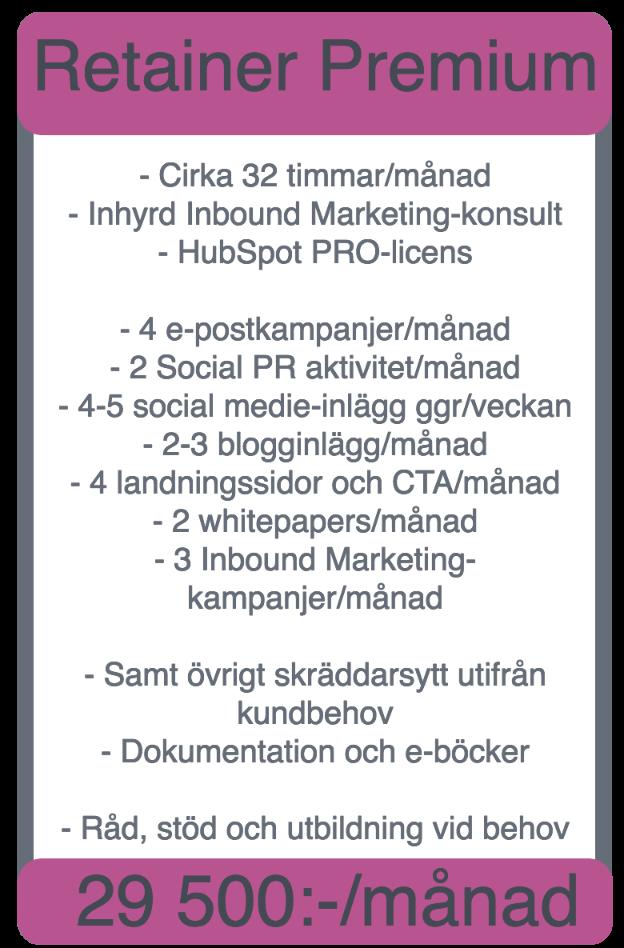 prislista marketinghouse premium